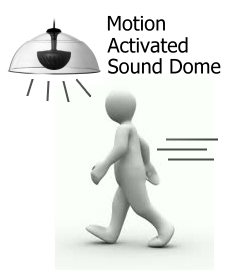 "20"" Sound Dome with Motion Sensor"